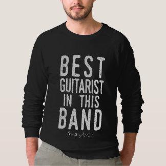 Sudadera El mejor guitarrista (quizá) (blanco)