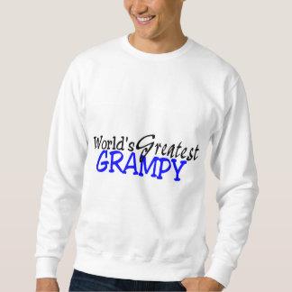 Sudadera El negro azul más grande de Grampy de los mundos
