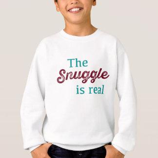 Sudadera El Snuggle es trullo real y Borgoña divertidos