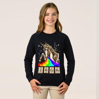 Sudadera El unicornio de la química pukes el arco iris