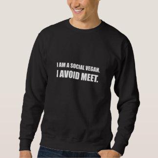 Sudadera El vegano social evita la reunión