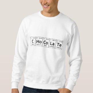 Sudadera Elementos de palabras de la tabla periódica de la