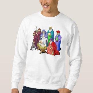 Sudadera Escena colorida de la natividad del navidad