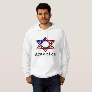 Sudadera ¡Estrella de América del judaísmo de David!