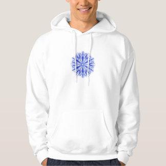 Sudadera Fractal azul real y mediados del copo de nieve del
