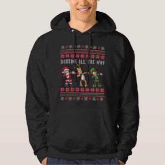 Sudadera Frotar hasta el final Navidad fea del duende del