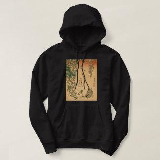 Sudadera Glicinias de Hokusai y arte del vintage de