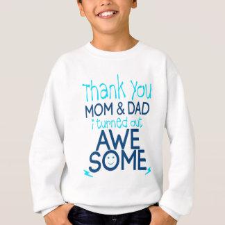 Sudadera gracias mamá y papá que resulté impresionante