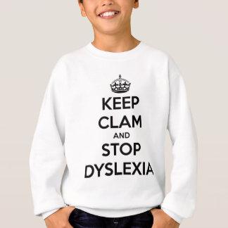 Sudadera Guarde la almeja y pare la dislexia