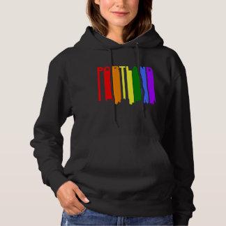 Sudadera Horizonte del arco iris del orgullo gay de