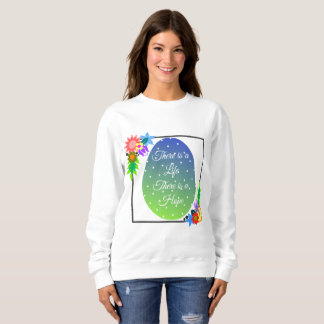 Sudadera Huevo de Pascua lindo del lunar con la guirnalda