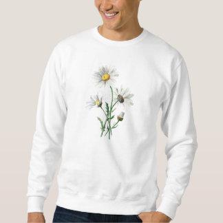 Sudadera Ilustracion de la flor salvaje de las margaritas