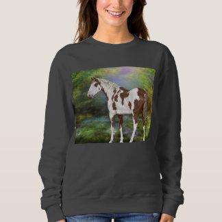 Sudadera Impresión del caballo de la pintura de Tovero del