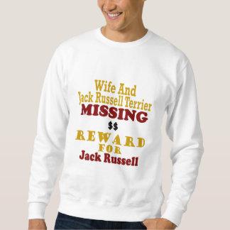 Sudadera Jack Russell Terrier y recompensa que falta de la