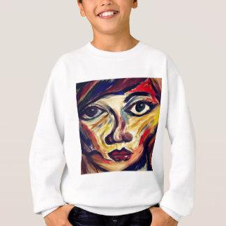 Sudadera La cara de la mujer abstracta