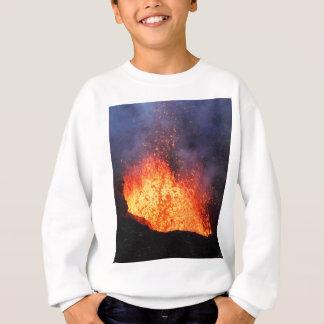 Sudadera La fuente de la lava caliente entra en erupción