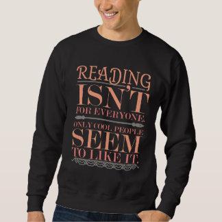 Sudadera La lectura no es para cada uno solamente gente