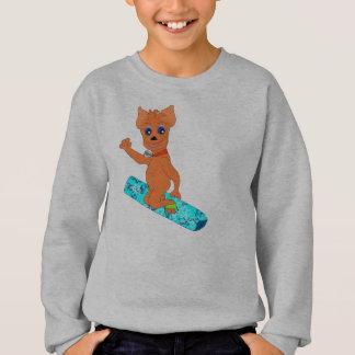 Sudadera La ropa del muchacho fresco - snowboard feliz