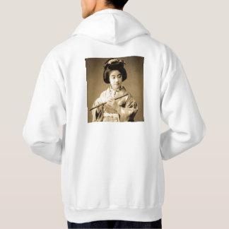 Sudadera La sepia del vintage entonó al geisha japonés que