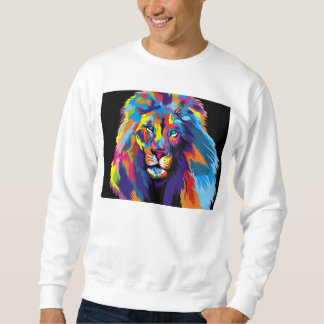 Sudadera León colorido