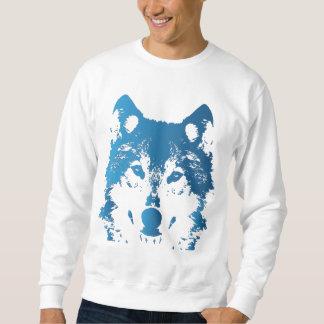 Sudadera Lobo de los azules claros del ilustracion