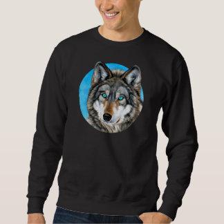 Sudadera Lobo pintado (ojos azules)