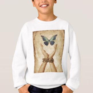 Sudadera Mano encadenada con la mariposa que asoma arriba