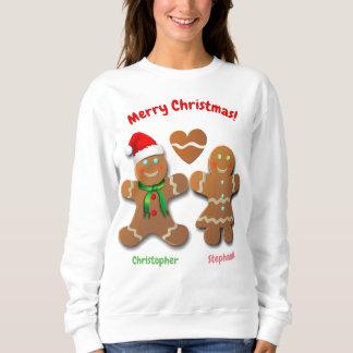 Sudadera Muchacho del pan de jengibre y boda de Navidad del