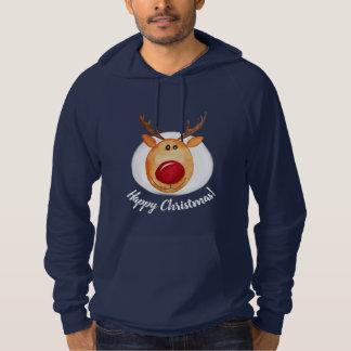 Sudadera Navidad de Rudolph de la acuarela de los hombres