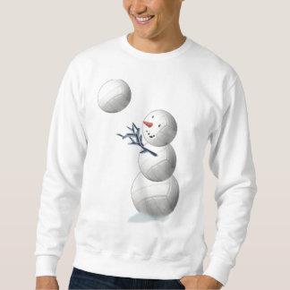 Sudadera Navidad del muñeco de nieve del voleibol