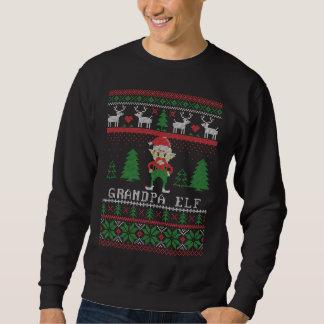 Sudadera Navidad feo del duende del abuelo