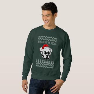 Sudadera Navidad feo del perro del boxeador Ho Ho Ho