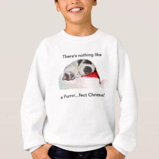 Sudadera Navidad, gato el dormir, gorra de Santa