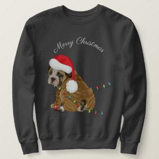 Sudadera Navidad inglés del perrito del dogo