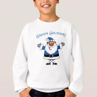 Sudadera Navidad Jánuca Kwanzaa de Santa del afroamericano
