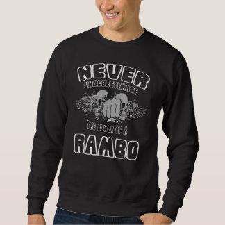 Sudadera Nunca subestime el poder de un RAMBO