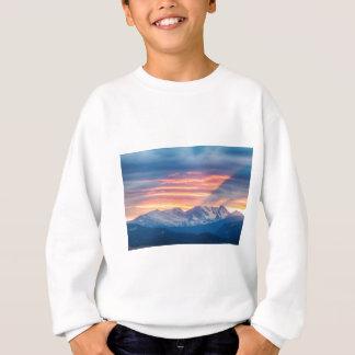 Sudadera Ondas de la puesta del sol de la montaña rocosa de