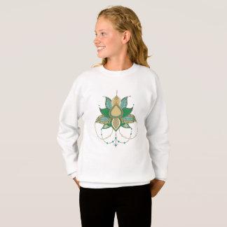 Sudadera Ornamento étnico de la mandala del loto de la flor