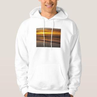 Sudadera Paisaje marino abstracto en la puesta del sol, CA