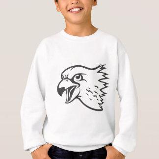 Sudadera Pájaro serio del halcón de peregrino en negro