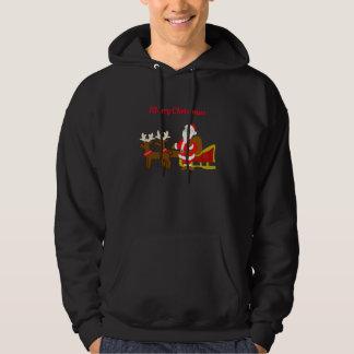 Sudadera Papá Noel en el trineo del navidad