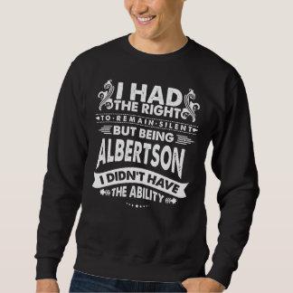 Sudadera Pero siendo ALBERTSON no tenía capacidad