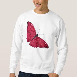 Sudadera Plantilla roja del ilustracion de la mariposa de