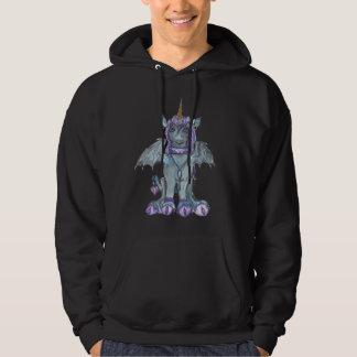Sudadera Potro azul del caballo del gótico del unicornio