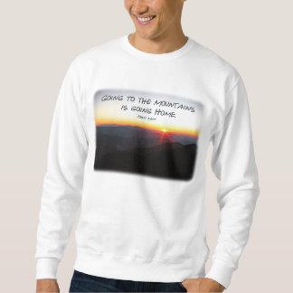 Sudadera Puesta del sol de la montaña cita asteroide/de