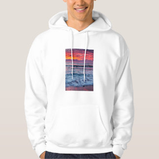 Sudadera Puesta del sol sobre olas oceánicas, California