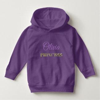 Sudadera Púrpura de princesa Elegant Golden Glitter