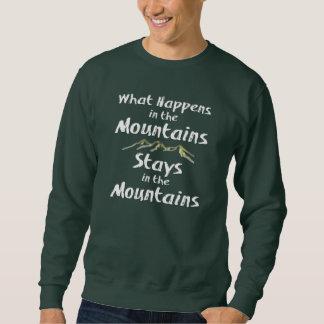 Sudadera Qué sucede en las estancias de las montañas en el