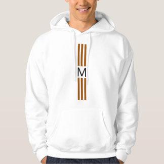 Sudadera Rayas modernas de Brown del monograma