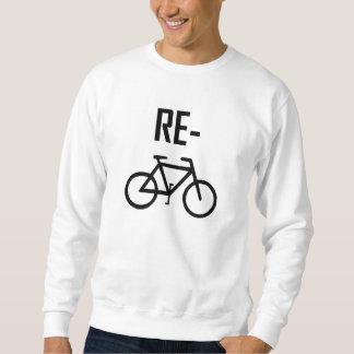Sudadera Recicle la bici de la bicicleta